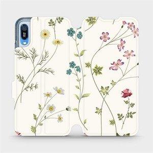 Flipové pouzdro Mobiwear na mobil Huawei Y6 2019 - MD03S Tenké rostlinky s květy
