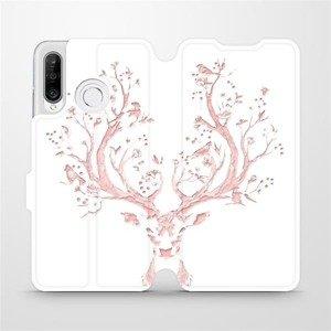 Flipové pouzdro Mobiwear na mobil Huawei P30 Lite - M007S Růžový jelínek