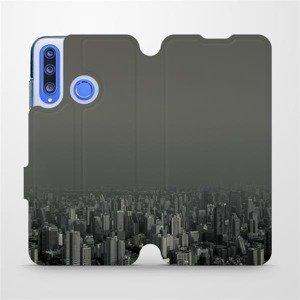 Flipové pouzdro Mobiwear na mobil Honor 20 Lite - V063P Město v šedém hávu