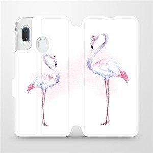 Flipové pouzdro Mobiwear na mobil Samsung Galaxy A20e - M005S Plameňáci