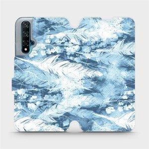 Flipové pouzdro Mobiwear na mobil Huawei Nova 5T - M058S Světle modrá horizontální pírka
