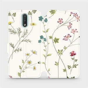 Flipové pouzdro Mobiwear na mobil Nokia 2.3 - MD03S Tenké rostlinky s květy