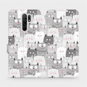 Flipové pouzdro Mobiwear na mobil Xiaomi Redmi 9 - M099P Kočičky