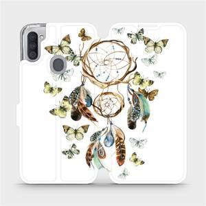 Flipové pouzdro Mobiwear na mobil Samsung Galaxy M11 - M001P Lapač a motýlci