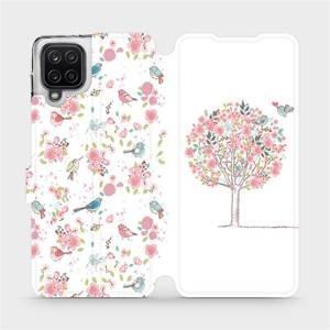 Flipové pouzdro Mobiwear na mobil Samsung Galaxy A12 - M120S Strom a ptáčci