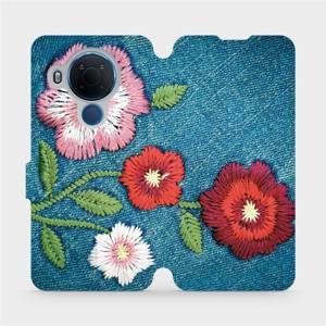 Flipové pouzdro Mobiwear na mobil Nokia 5.4 - MD05P Džínové květy