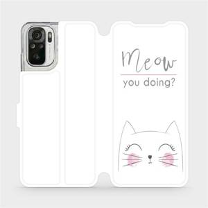 Flipové pouzdro Mobiwear na mobil Xiaomi Redmi Note 10 - M098P Meow you doing?