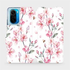 Flipové pouzdro Mobiwear na mobil Xiaomi Mi 11i / Xiaomi Poco F3 - M124S Růžové květy