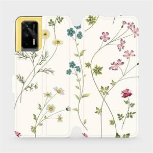Flipové pouzdro Mobiwear na mobil Realme GT 5G - MD03S Tenké rostlinky s květy