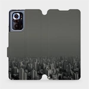 Flipové pouzdro Mobiwear na mobil Xiaomi Redmi Note 10 Pro - V063P Město v šedém hávu
