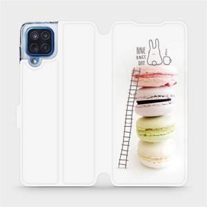 Flipové pouzdro Mobiwear na mobil Samsung Galaxy M12 - M090P Makronky - have a nice day