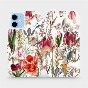 Flip pouzdro Mobiwear na mobil Apple iPhone 12 Mini - MP01S Rozkvetlá louka