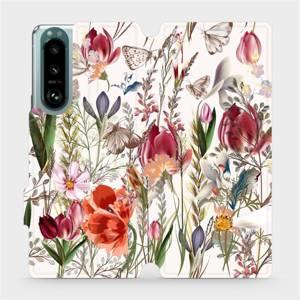 Flip pouzdro Mobiwear na mobil Sony Xperia 5 III - MP01S Rozkvetlá louka