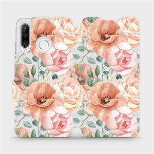 Flip pouzdro Mobiwear na mobil Huawei P30 Lite - MP02S Pastelové květy