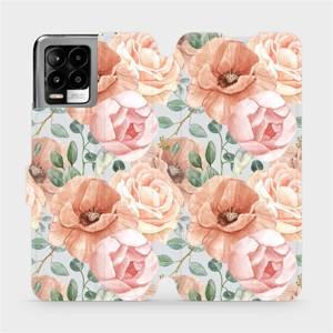 Flip pouzdro Mobiwear na mobil Realme 8 Pro - MP02S Pastelové květy