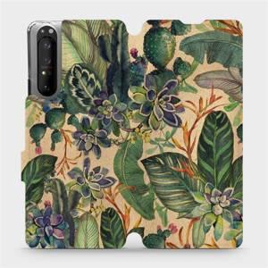Flip pouzdro Mobiwear na mobil Sony Xperia 1 II - VP05S Sukulenty