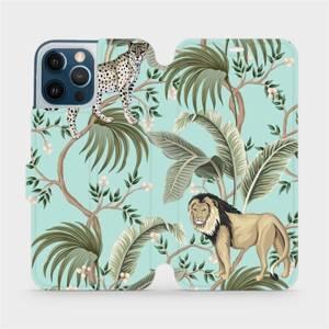 Flip pouzdro Mobiwear na mobil Apple iPhone 12 Pro Max - MP08S Dvě kočičky