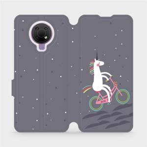 Flip pouzdro Mobiwear na mobil Nokia G10 - V024P Jednorožec na kole