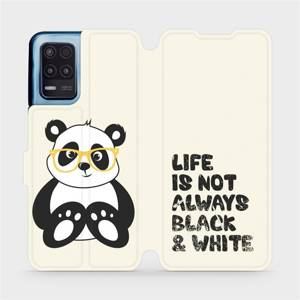 Flip pouzdro Mobiwear na mobil Realme 8 5G - M041S Panda - life is not always black and white