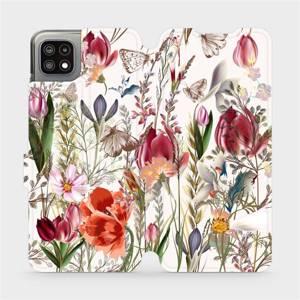 Flip pouzdro Mobiwear na mobil Samsung Galaxy A22 5G - MP01S Rozkvetlá louka