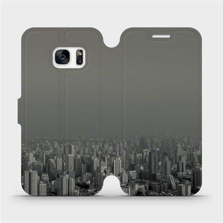 Flipové pouzdro Mobiwear na mobil Samsung Galaxy S7 Edge - V063P Město v šedém hávu