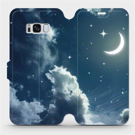 Flipové pouzdro Mobiwear na mobil Samsung Galaxy S8 - V145P Noční obloha s měsícem