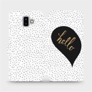 Flipové pouzdro Mobiwear na mobil Samsung Galaxy J6 Plus 2018 - M013P Golden hello