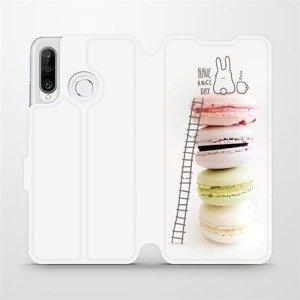 Flipové pouzdro Mobiwear na mobil Huawei P30 Lite - M090P Makronky - have a nice day