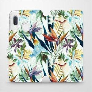 Flipové pouzdro Mobiwear na mobil Samsung Galaxy A20e - M071P Flóra