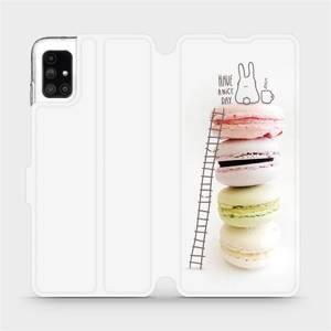 Flipové pouzdro Mobiwear na mobil Samsung Galaxy M51 - M090P Makronky - have a nice day