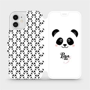 Flipové pouzdro Mobiwear na mobil Apple iPhone 12 - M030P Panda Amálka