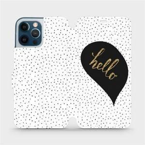 Flipové pouzdro Mobiwear na mobil Apple iPhone 12 Pro Max - M013P Golden hello