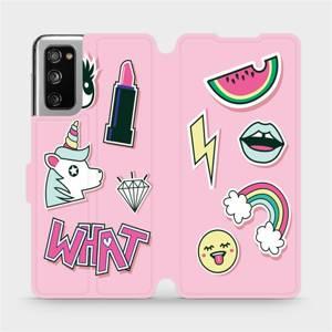 Flipové pouzdro Mobiwear na mobil Samsung Galaxy S20 FE - M129S Růžové WHAT