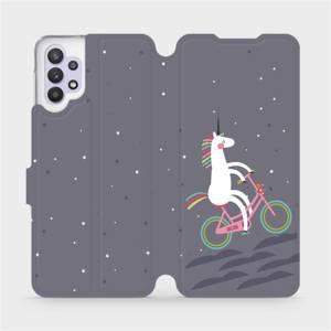 Flipové pouzdro Mobiwear na mobil Samsung Galaxy A32 5G - V024P Jednorožec na kole