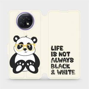Flipové pouzdro Mobiwear na mobil Xiaomi Redmi Note 9T 5G - M041S Panda - life is not always black and white