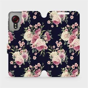 Flipové pouzdro Mobiwear na mobil Samsung Galaxy Xcover 5 - V068P Růžičky