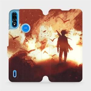 Flipové pouzdro Mobiwear na mobil Motorola Moto E7i Power - MA06S Postava v ohni