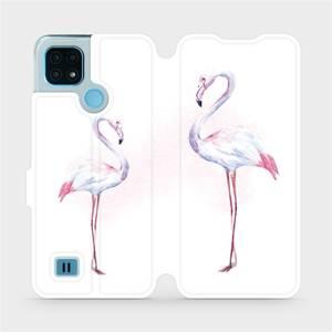 Flip pouzdro Mobiwear na mobil Realme C21 - M005S Plameňáci