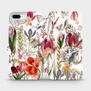 Flip pouzdro Mobiwear na mobil Apple iPhone 7 Plus - MP01S Rozkvetlá louka