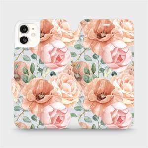 Flip pouzdro Mobiwear na mobil Apple iPhone 11 - MP02S Pastelové květy