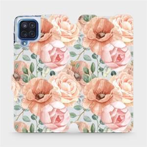 Flip pouzdro Mobiwear na mobil Samsung Galaxy M12 - MP02S Pastelové květy