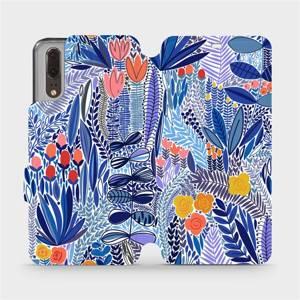 Flip pouzdro Mobiwear na mobil Huawei P20 - MP03P Modrá květena
