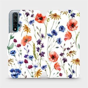 Flip pouzdro Mobiwear na mobil Huawei Nova 5T - MP04S Luční kvítí