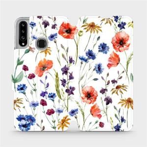 Flip pouzdro Mobiwear na mobil Samsung Galaxy A20S - MP04S Luční kvítí
