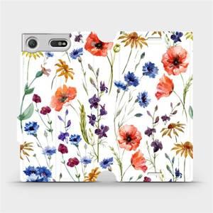 Flip pouzdro Mobiwear na mobil Sony Xperia XZ1 Compact - MP04S Luční kvítí