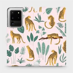 Flip pouzdro Mobiwear na mobil Samsung Galaxy S20 Ultra - MP07S Leopardi
