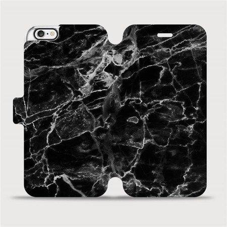 Flipové pouzdro Mobiwear na mobil Apple iPhone 6 / iPhone 6s - V056P Černý mramor