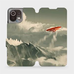 Flip pouzdro Mobiwear na mobil Xiaomi 11 Lite 5G NE - MA03P Oranžové letadlo v horách