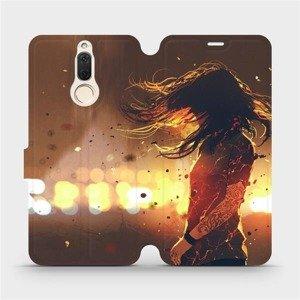 Flipové pouzdro Mobiwear na mobil Huawei Mate 10 Lite - MA02S Tetovaná dívka
