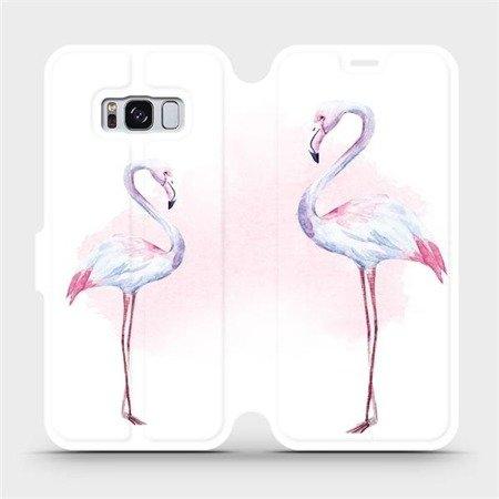 Flipové pouzdro Mobiwear na mobil Samsung Galaxy S8 - M005S Plameňáci